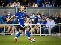 SAN JOSE, CA - AUGUST 17: Jackson Yueill during a game between Minnesota United FC and San Jose Earthquakes at PayPal Park on August 17, 2021 in San Jose, California.