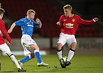 St Johnstone Academy v Manchester United Academy....17.04.15   <br /> Marc Gow and James Dunne<br /> Picture by Graeme Hart.<br /> Copyright Perthshire Picture Agency<br /> Tel: 01738 623350  Mobile: 07990 594431