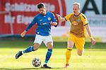 20.02.2021, xtgx, Fussball 3. Liga, FC Hansa Rostock - SV Waldhof Mannheim, v.l. Julian Riedel (Hansa Rostock, 3), Dennis Jastrzembski (Mannheim) Zweikampf, Duell, Kampf, tackle <br /> <br /> (DFL/DFB REGULATIONS PROHIBIT ANY USE OF PHOTOGRAPHS as IMAGE SEQUENCES and/or QUASI-VIDEO)<br /> <br /> Foto © PIX-Sportfotos *** Foto ist honorarpflichtig! *** Auf Anfrage in hoeherer Qualitaet/Aufloesung. Belegexemplar erbeten. Veroeffentlichung ausschliesslich fuer journalistisch-publizistische Zwecke. For editorial use only.