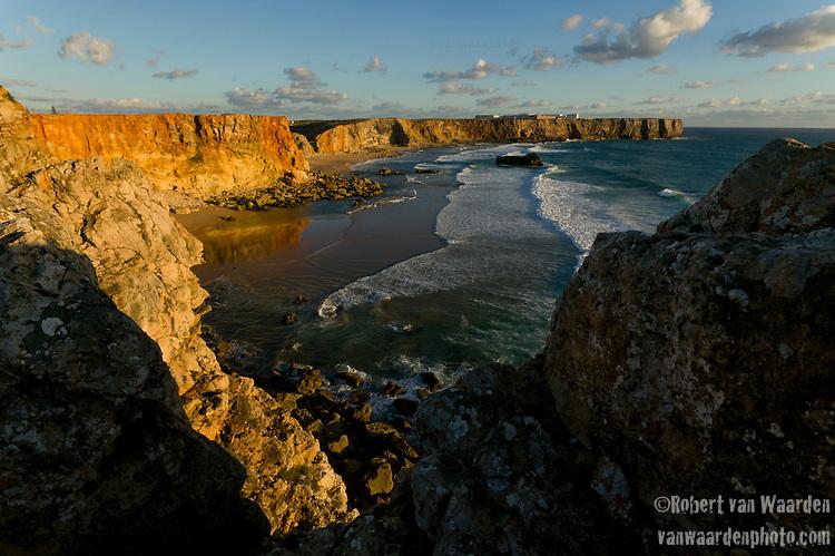 The cliffs of Sagres in SouthWest Portugal
