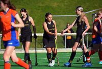 Wellington v Tauranga. 2021 National Women's Under-18 Hockey Tournament day two at National Hockey Stadium in Wellington, New Zealand on Monday, 12 July 2021. Photo: Dave Lintott / lintottphoto.co.nz https://bwmedia.photoshelter.com/gallery-collection/Under-18-Hockey-Nationals-2021/C0000T49v1kln8qk