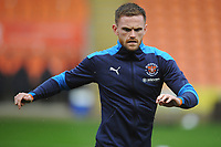 Blackpool's Oliver Turton during the pre-match warm-up <br /> <br /> Photographer Kevin Barnes/CameraSport<br /> <br /> The EFL Sky Bet League One - Blackpool v Milton Keynes Dons - Saturday 24 October 2020 - Bloomfield Road - Blackpool<br /> <br /> World Copyright © 2020 CameraSport. All rights reserved. 43 Linden Ave. Countesthorpe. Leicester. England. LE8 5PG - Tel: +44 (0) 116 277 4147 - admin@camerasport.com - www.camerasport.com
