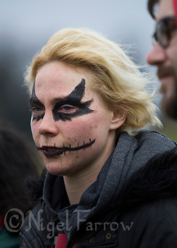 08 MAR 2015 - NOTTINGHAM, GBR - London Unspeakables player Fiona Howat listens to a briefing before the start of the 2015 British Quidditch Cup at Woollaton Hall and Deer Park in Nottingham, Great Britain (PHOTO COPYRIGHT © 2015 NIGEL FARROW, ALL RIGHTS RESERVED)