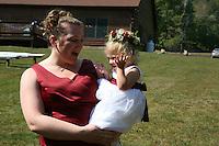 "Port Matilda, PA -- 09/22/2007 -- Kimberly Bergey and Russell ""Skip"" Shuey were married at Marrara's Mountain Lodge on Saturday, September 22, 2007...Photo:  Joe Rokita / JoeRokita.com..Photo ©2007 Joe Rokita Photography"