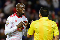Harrison, NJ - Tuesday April 10, 2018: Bradley Wright-Phillips during leg two of a  CONCACAF Champions League semi-final match between the New York Red Bulls and C. D. Guadalajara at Red Bull Arena. C. D. Guadalajara defeated the New York Red Bulls 0-0 (1-0 on aggregate).