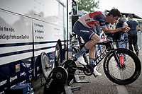 Jasper Stuyven (BEL/Trek-Segafredo) warming up to a sweat pre-stage<br /> <br /> Stage 5 (ITT): Time Trial from Changé to Laval Espace Mayenne (27.2km)<br /> 108th Tour de France 2021 (2.UWT)<br /> <br /> ©kramon