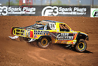 Apr 15, 2011; Surprise, AZ USA; LOORRS driver Aaron Daugherty (24) during round 3 and 4 at Speedworld Off Road Park. Mandatory Credit: Mark J. Rebilas-.