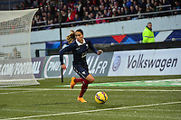 Lorient, France. - Sunday, February 8, 2015:  Amel Majri (22) of France. France defeated the USWNT 2-0 during an international friendly at the Stade du Moustoir.