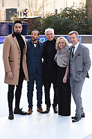 """Ashley Banjo, Jason Gardiner, Phillip Schofield, Jayne Torvill a<br /> at the """"Dancing on Ice"""" launch photocall, natural History Museum, London<br /> <br /> <br /> ©Ash Knotek  D3365  19/12/2017"""
