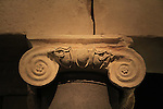 A column capital from King Herod's mausoleum in Herodion, 15-4 BC, on display at the Israel Museum