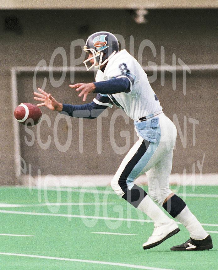 Hank Ilesic Toronto Argonauts punter 1985. Copyright photograph Scott Grant/