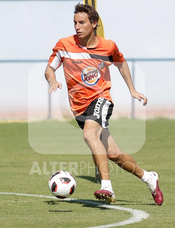 Getafe's Pedro Mosquera during trainning session. July 21, 2010. (ALTERPHOTOS/Alvaro Hernandez)