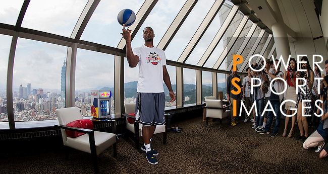 Red Bull athlete and NBA player Harrison Barnes attends a meeting with media ahead the Red Bull King of the Rock World Finals at the Shangri-La Hotel on 4 September 2014, in Taipei, Taiwan. Photo by Victor Fraile / Power Sport Images