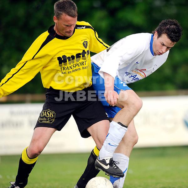 voetbal alcides - de bataven hoofdklasse zondag seizoen 2008-2009 03-05-2009 claus boekweg verdedigt