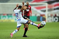 9th June 2021; Arena da Baixada, Curitiba, Brazil; Copa do Brazil, Athletico Paranaense versus Avai; Richard of  Athletico Paranaense shoots as Lourenço of Avai attempts to block