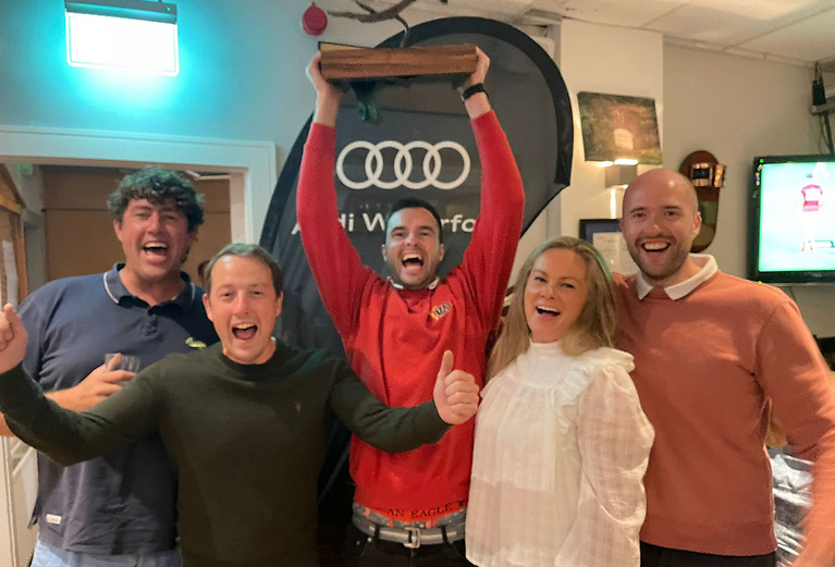 1720 European Champions: 'Team McBearla' (from left) Killian Collins, Ross McDonald, Conor English, Aoife English and Paddy Good