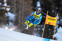26th December 2020; Stelvio, Bormio, Italy; FIS World Cup Mens Downhill;   Bryce Bennett of the USA during his 1st training run for the mens downhill race of FIS ski alpine world cup at the Stelvio