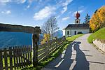 Oesterreich, Kaernten, Moelltal, oberhalb von Winklern: die Penzelberger Kirche, erbaut ca. 1670 von Jakob Lerckhammer | Austria, Carinthia, Valley Moelltal, above  Winklern: Penzelberg Church built about 1670 by Jakob Lerckhammer
