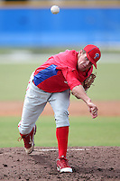 Philadelphia Phillies pitcher Ken Giles #35 during an Instructional League game against the Toronto Blue Jays at Englebert Complex on October 12, 2011 in Dunedin, Florida.  (Mike Janes/Four Seam Images)