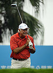 TAIPEI, TAIWAN - NOVEMBER 18:  John Jacobs of England tees off on the 1st hole during day one of the Fubon Senior Open at Miramar Golf & Country Club on November 18, 2011 in Taipei, Taiwan.  Photo by Victor Fraile / The Power of Sport Images