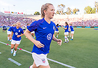 PASADENA, CA - AUGUST 4: Sam Mewis #2 exits the field during a game between Ireland and USWNT at Rose Bowl on August 3, 2019 in Pasadena, California.