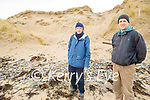 Surveying the erosion of the sand cliffs on Banna Strand on Saturday morning. Front right: John Lane with Pat Lawlor
