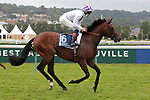 August 15, 2021, Deauville (France) - Poetic Flare (6) with Kevin Manning abroad at the Prix du Haras de Fresnay-Le-Buffard Jaques Le Marois (Gr I) at Deauville-La Touques Racecourse on August 15 in Deauville. [Copyright (c) Sandra Scherning/Eclipse Sportswire)]