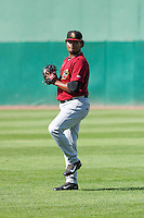 Quad Cities River Bandits pitcher Francis Martes (12) warms up prior to a Midwest League game against the Wisconsin Timber Rattlers on July 17th, 2015 at Fox Cities Stadium in Appleton, Wisconsin. Quad Cities defeated Wisconsin 4-2. (Brad Krause/Four Seam Images)
