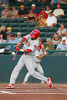 Clearwater Threshers infielder J.P. Crawford (2) in action during a game against the Daytona Tortugas at Radiology Associates Field at Jackie Robinson Ballpark on May 9, 2015 in Daytona, Florida. Clearwater defeated Daytona 7-0. (Robert Gurganus/Four Seam Images)