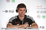 GUANGZHOU, GUANGDONG - JULY 26:  Thomas Muller of Bayern Munich attends a press conference ahead the friendly match against VfL Wolfsburg as part of the Audi Football Summit 2012 on July 26, 2012 at the Westin hotel in Guangzhou, China. Photo by Victor Fraile / The Power of Sport Images
