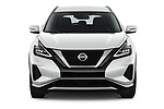 Car photography straight front view of a 2020 Nissan Murano SV 5 Door SUV Front View