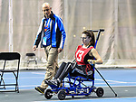 MONTREAL, QC - APRIL 29:  A participant takes on a new challenge during the 2017 Montreal Paralympian Search at Complexe sportif Claude-Robillard. Photo: Minas Panagiotakis/Canadian Paralympic Committee