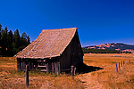 Old barn near Cheesaw, Washington in the Okanogan country famous for early ranching and gold mining.