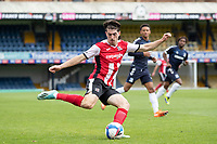 Josh Key of Exeter City crosses into the box during Southend United vs Exeter City, Sky Bet EFL League 2 Football at Roots Hall on 10th October 2020