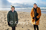 Enjoying a stroll in Banna beach on Sunday, l to r: Cathy Jordan and Orla O'Beirne
