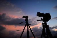Aug. 21, 2012; Phoenix, AZ, USAcloud sunset camera tripod storm chaser storm chasing South Mountain Mandatory Credit: Mark J. Rebilas
