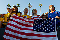 Carson, CA - Thursday August 03, 2017: USA fans during a 2017 Tournament of Nations match between the women's national teams of the United States (USA) and Japan (JAP) at StubHub Center.