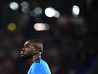 Calcio, Serie A: AS Roma vs SSC Napoli, Olympic stadium, October 24, 2021.<br /> Napoli's captain Kalidou Koulibaly looks on  during the Italian Serie A football match between Roma and Napoli at Rome's Olympic stadium, on , October 24, 2021. <br /> UPDATE IMAGES PRESS/Isabella Bonotto