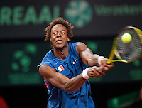 18-9-09, Netherlands,  Maastricht, Tennis, Daviscup Netherlands-France, Gael Monfils