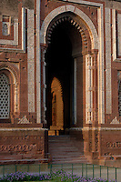 The Minar is the Quwwat-ul-Islam (`Might of Islam') Mosque, one of the earliest examples of Islamic architecture in India.  Located outside of New Delhi.