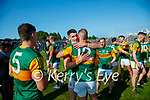 Paul Geaney, Kerry, Stephen O'Brien, Kerry, after the Munster GAA Football Senior Championship Final match between Kerry and Cork at Fitzgerald Stadium in Killarney on Sunday.