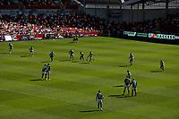 5th June 2021; Brentford Community Stadium, London, England; Gallagher Premiership Rugby, London Irish versus Wasps; Wasps players kick off