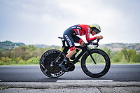 Anna Kiesenhofer (AUT)<br /> <br /> Women Elite Time trial from Imola to Imola (31.7km)<br /> <br /> 87th UCI Road World Championships 2020 - ITT (WC)<br /> <br /> ©kramon