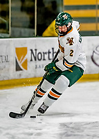 30 November 2018: University of Vermont Catamount Defender Sini Karjalainen, a Freshman from Posio, Finland, in first period action against the University of Maine Black Bears at Gutterson Fieldhouse in Burlington, Vermont. The Lady Cats were edged out by the Bears 2-1 in the first game of their 2-game Hockey East series. Mandatory Credit: Ed Wolfstein Photo *** RAW (NEF) Image File Available ***