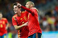 Spain's Alvaro Odriozola (l) and David Jimenez Silva celebrate goal during international friendly match. November 11,2017.(ALTERPHOTOS/Acero) /NortePhoto.com