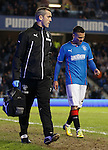 Arnold Peralta off with a hamstring injury
