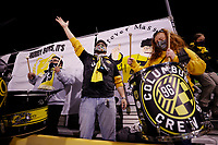 COLUMBUS, OH - DECEMBER 12: Columbus Crew fans are seen against Seattle Sounders FC during a game between Seattle Sounders FC and Columbus Crew at MAPFRE Stadium on December 12, 2020 in Columbus, Ohio.