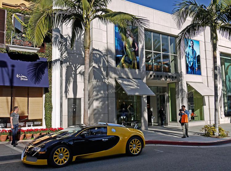 Bugati, Rodeo Drive, Beverly Hills, 2012