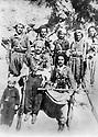 Iraq 1961 <br /> Near the cave of Sheikhan, sitten right, Anwar Beg Betwata and left, the little boy, Serhat Anwar Beg  <br /> Irak 1961 Pres de la grotte de Sheikhan, a droite assis, Anwar Beg Betwata,  a gauche ,le petit garcon, Serhat Anwar Beg Betwata