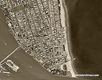 historical aerial photograph Miami Beach, Florida, 1961